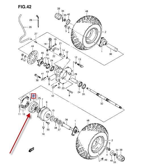 NEU: Bremssattel Bremszange hinten Suzuki LT-Z 90
