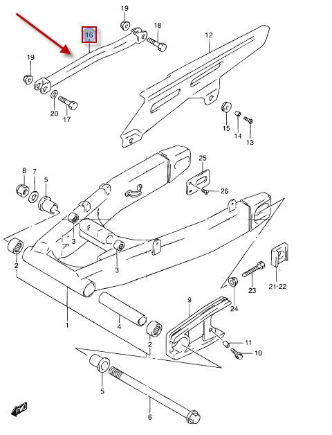 NEU: Bremssattelhalter Suzuki RF 900 R, GSF 1200 Bandit