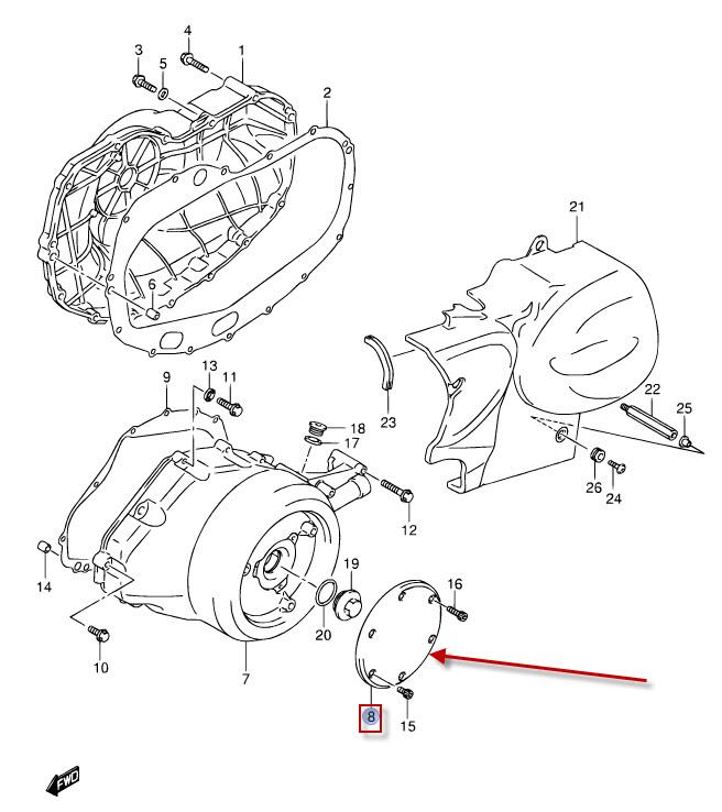 NEU: Lichtmaschinendeckel Suzuki VZR 1800 R Intruder M1800