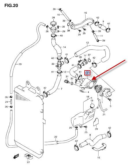 NEU: Thermostat Suzuki VLR 1800 R Intruder C1800, VZR 1800