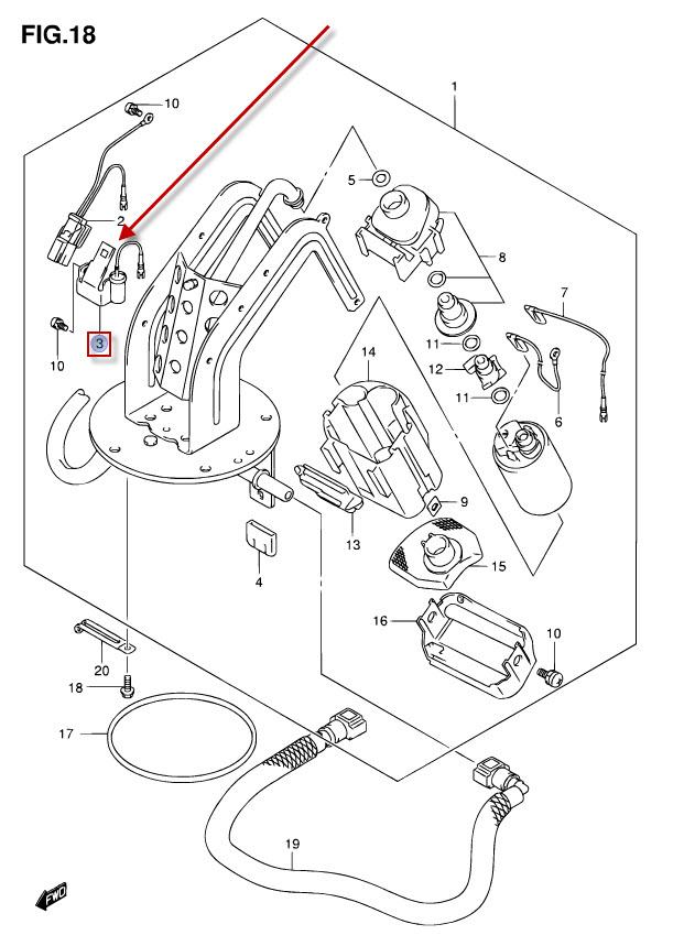 NEU: Tankuhr Suzuki GSF 650 Bandit, GSF 650 Bandit, GSF