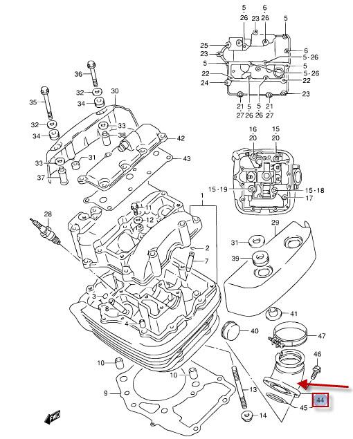 NEU: Ansaugstutzen Suzuki VL 1500 LC Intruder C1500 Intake