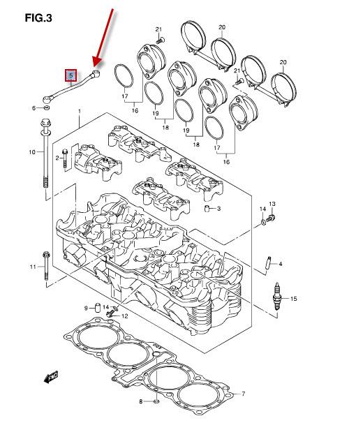 NEU: Ölleitung Suzuki GSF 650 Bandit, GSF 650 Bandit, GSF