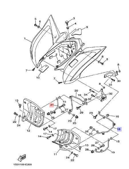 NEU: Lampenverkleidung Rahmen Yamaha YFZ 450, YFZ 450, YFM