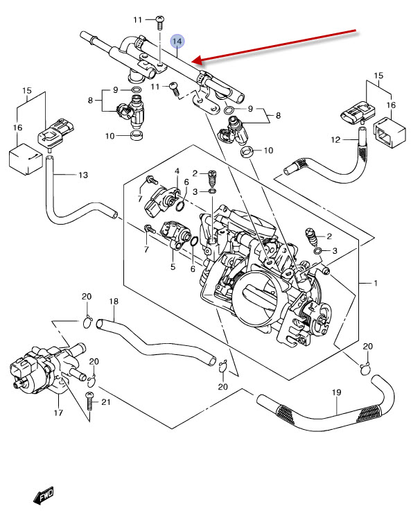 NEU: Kraftstoffverteiler Suzuki VLR 1800 R Intruder C1800