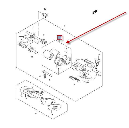 NEU: Bremskolben Satz Suzuki VL 1500 BT Intruder C1500T