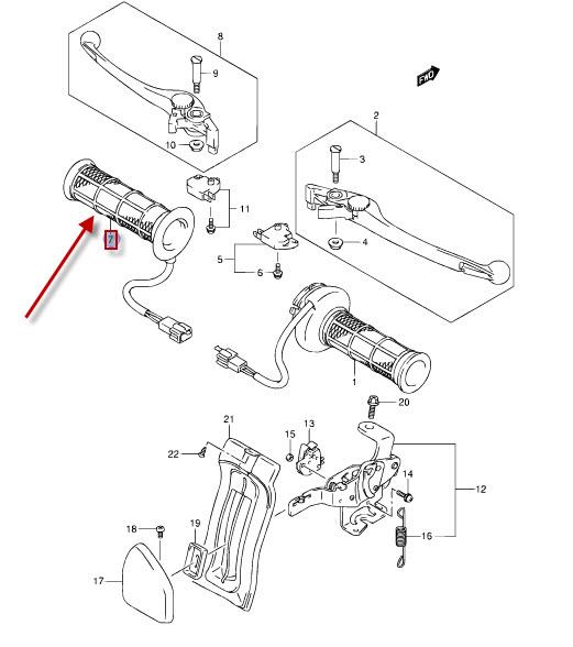 NEU: Griffheizung Suzuki AN 400 Z Burgman, AN 650 A