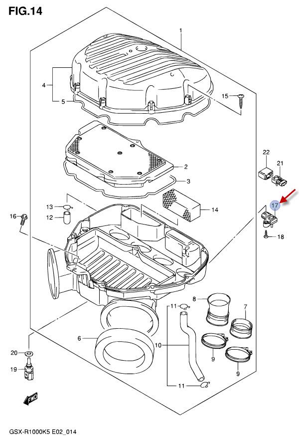 NEU: MAP Sensor Suzuki GSX-R 600, GSX-R 750, GSX-R 1000