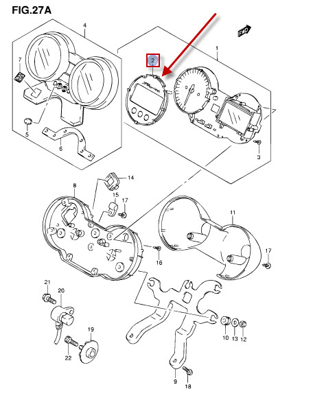 NEU: Tachometer Deckel Suzuki GSF 650 Bandit, GSF 650 S