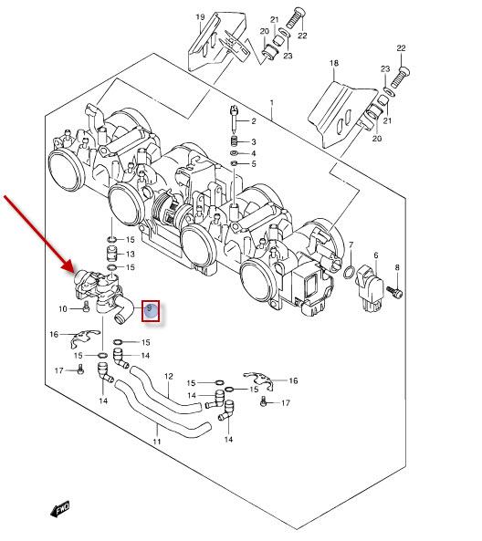 NEU: Leerlaufdrehzahlregelung (ISC) Ventil Suzuki GSF 650