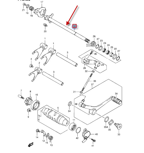 NEU: Schaltwelle Suzuki GSF 650 Bandit, GSF 650 A Bandit