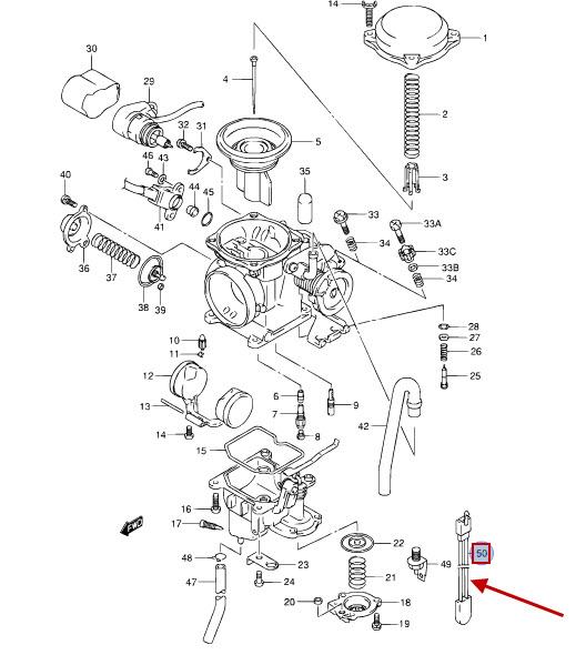 NEU: Thermoschalter Vergaserheizung Suzuki TR 50 S Street