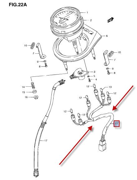 NEU: Kabelbaum vorne Suzuki LS 650 P Savage Wire harness