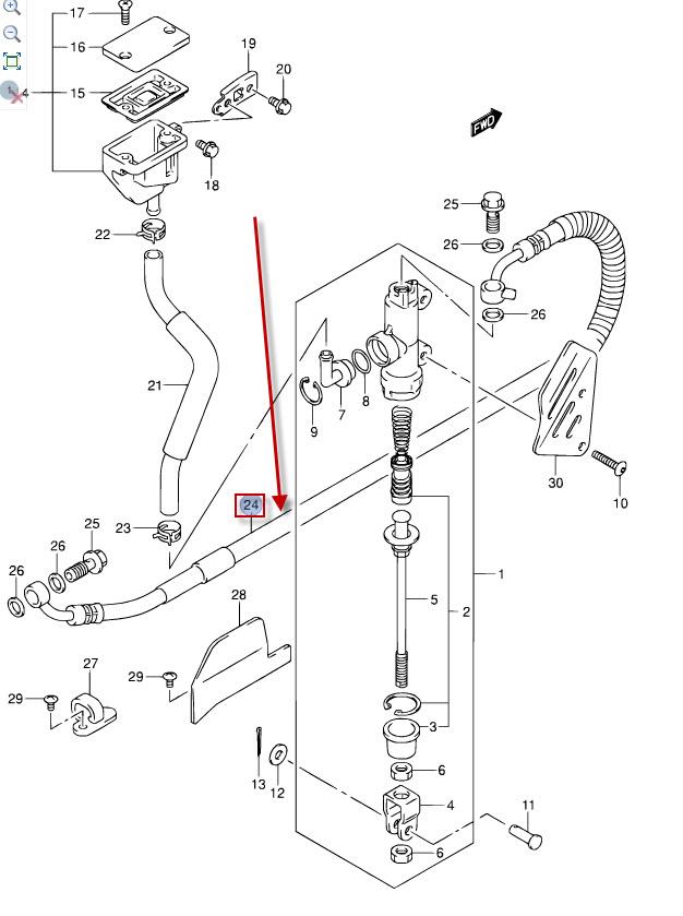 NEU: Bremsleitung hinten Suzuki DL 650 V-Strom Brake hose