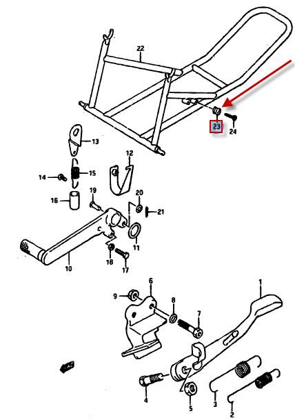 NEU: Rahmenteil Suzuki RGV 250, GSX-R 750, GSX-R 750, GSX