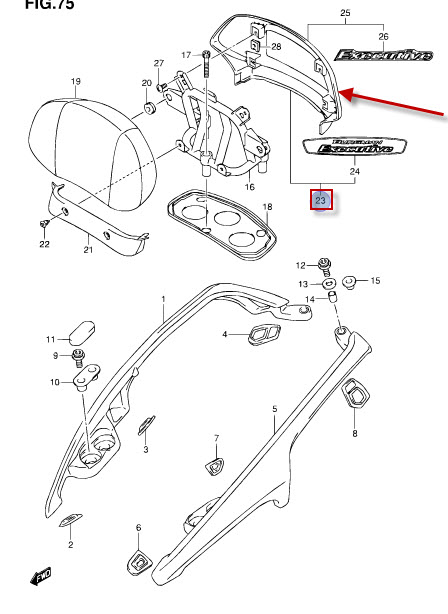 NEU: Abdeckung Soziuspolster Suzuki AN 650 Burgman Cover