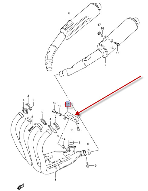 NEW: Exhaust Holder Suzuki GSX-R 1100 w GSX-R 1100 W