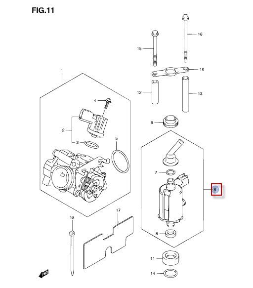 NEU: Kraftstoffdruckregler Suzuki FL 125 SDW Address Fuel
