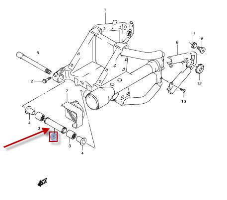 NEU: Befestigungshülse Hinterradschwinge Suzuki VL 1500 BT