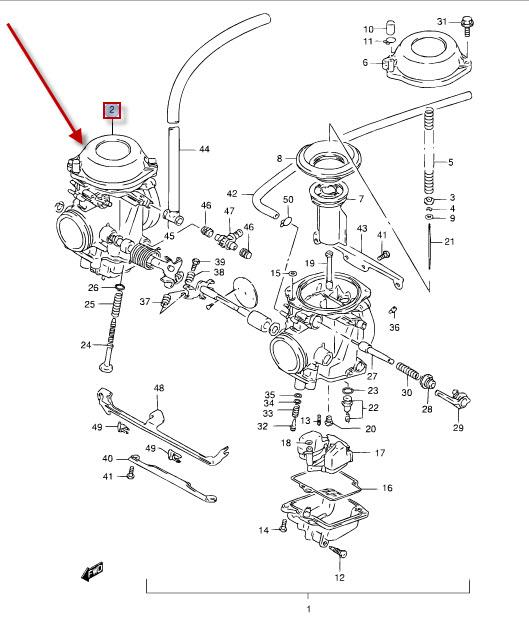 Vergaser Reparatursatz für Suzuki GS 500 E BK3111 2003