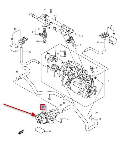 NEU: Leerlaufdrehzahlregelung (ISC) Ventil Suzuki VZR 1800