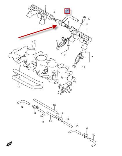 NEU: T-Stück Kraftstoffleitung Suzuki GSX-R 600, GSX-R 600