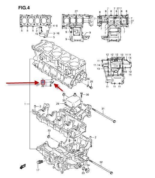 NEU: Öl Ventil Suzuki GSR 600, GSR 600 A ABS, GSR 750, GSR