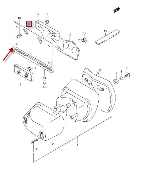 NEU: Kennzeichenhalter Suzuki VL 1500 LC Intruder, VL 1500
