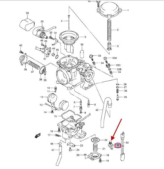 NEU: Vergaserheizung Suzuki DR 125 SE, DR 125 SEU, VL 125