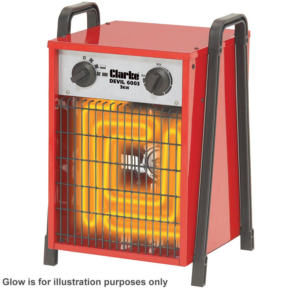electric fan heaters velux window motor wiring diagram clarke devil 6003 industrial heater machine mart