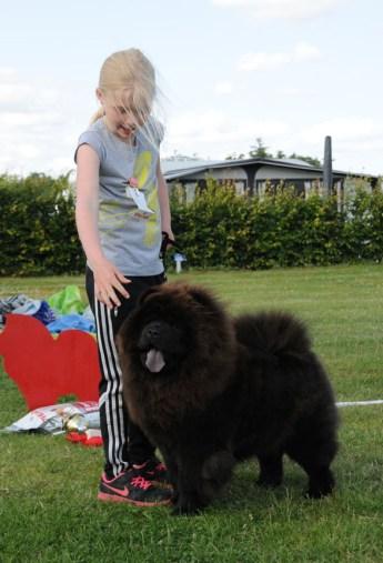 Chow Chow barn og hund konkurrence, Julie Maj Lindorff