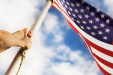 Raising An American Flag