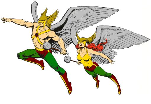 Silverage Hawkman and Hawkgirl
