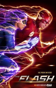 The Flash season 5 poster with Barry Allen and Nora West-Allen
