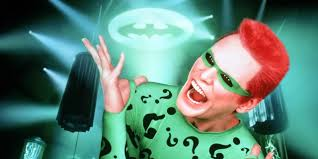 Jim Carrey as The Riddler in Batman Forever