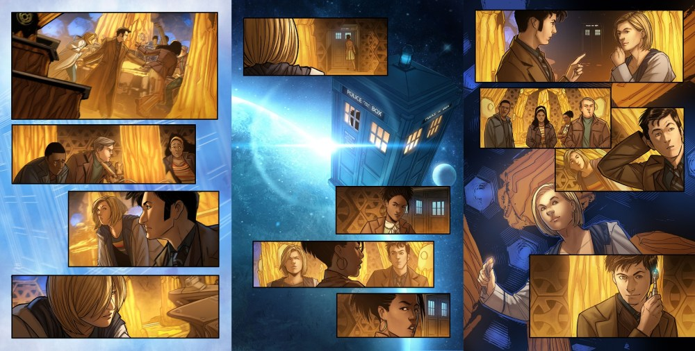 13th Doctor #2.4 pages 1, 4 and 5