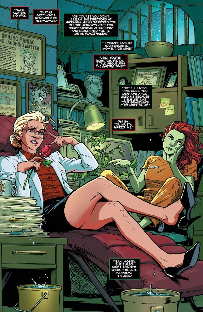 Harley-Quinn-Poison-Ivy-sitting-in-an-office-DC-Comics-News-Reviews