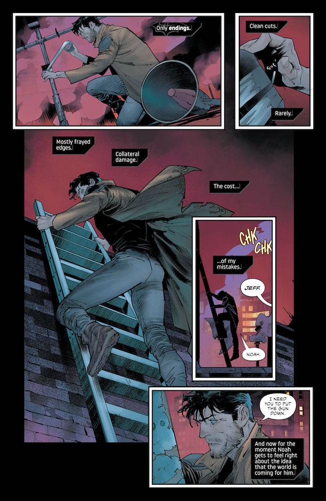 Noah doesn't like Wayne on his rooftop DC Comics News Reviews