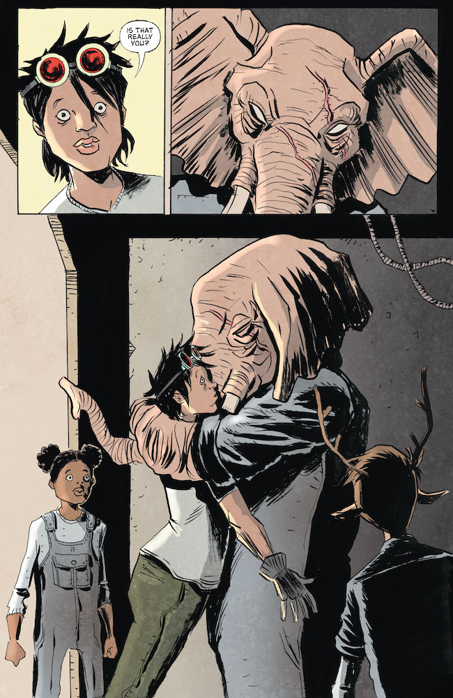 Earl hugs Mel while Gus and Penny stare in amazement DC Comics News Reviews