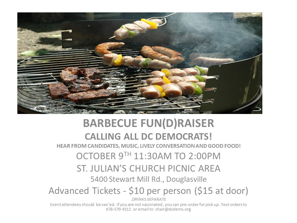 Barbecue Fundraiser October 9 2021 11:30 am - 2 pm