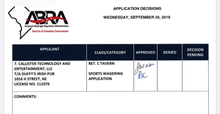 ABRA Sports Wagering Approval