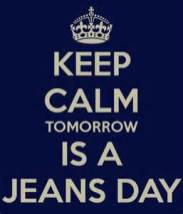 free jeans day tomorrow