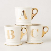 monogram monday: anthropologie golden mug