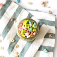 Lucky Charms Cereal Milk Overnight Oats