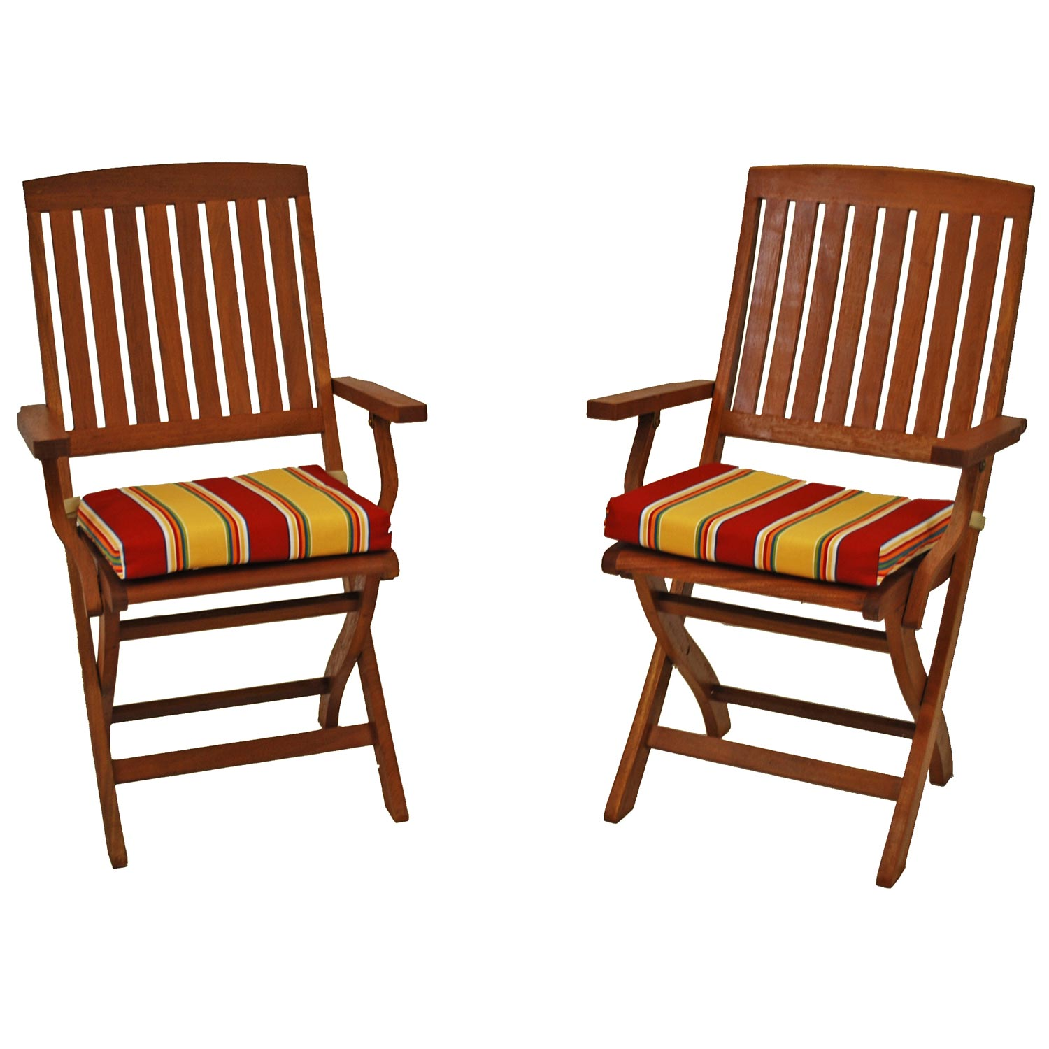 Fabric Folding Chairs Outdoor Folding Chair Cushion Patterned Fabric Set Of 2