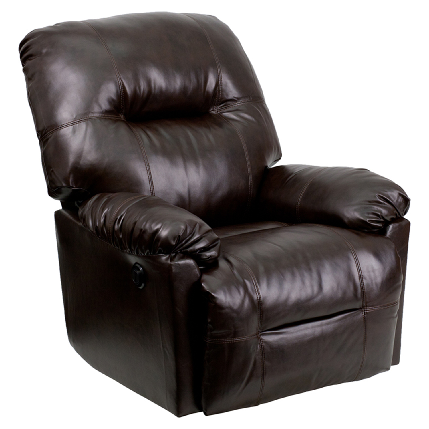 Leather Rocking Chair Bentley Leather Rocker Chair Recliner Brown