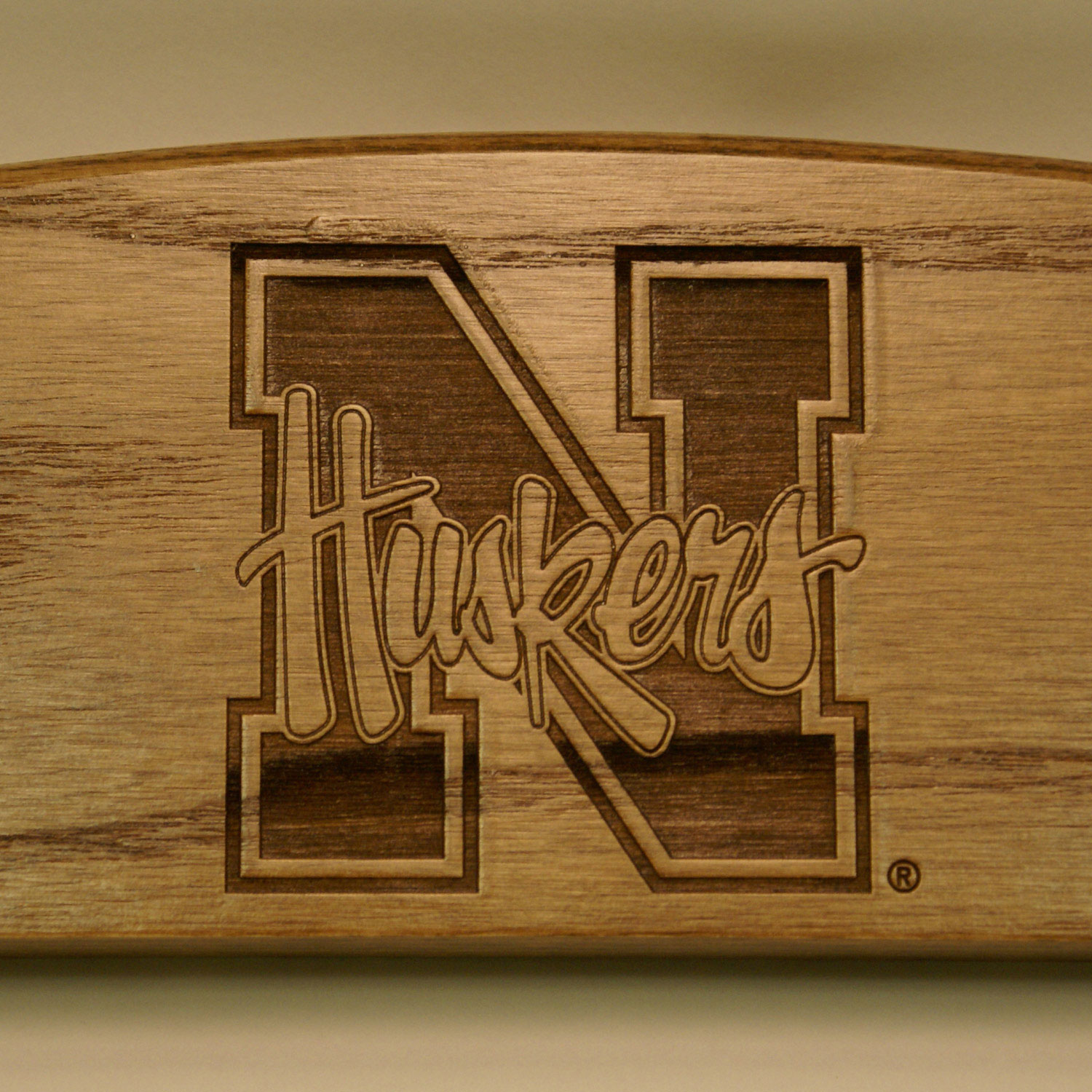 engraved rocking chair sitting chairs for living room nebraska cornhuskers maple finish dcg stores