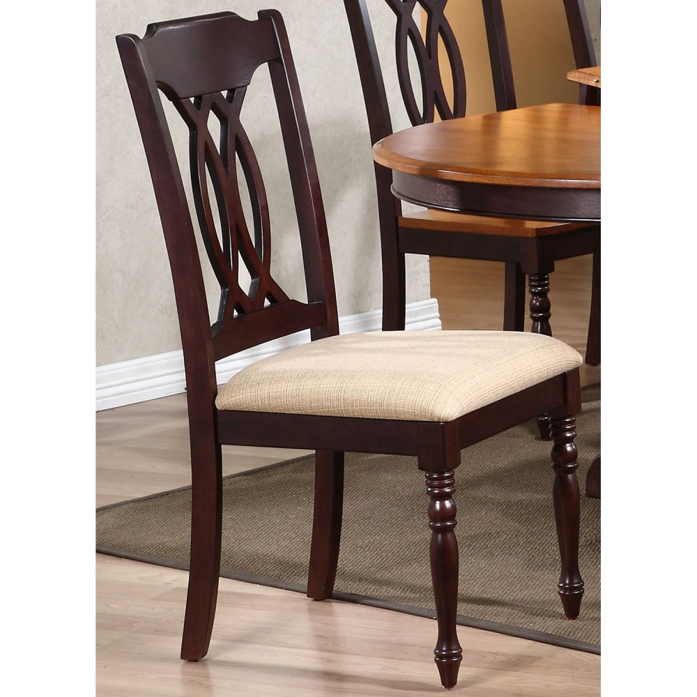 Oval Back Chair Gatsby 7 Piece Oval Extending Dining Set Cut Out Back