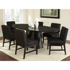 Black Tufted Dining Chair Staples Turcotte Brown Maurice Fabric Set Of 2