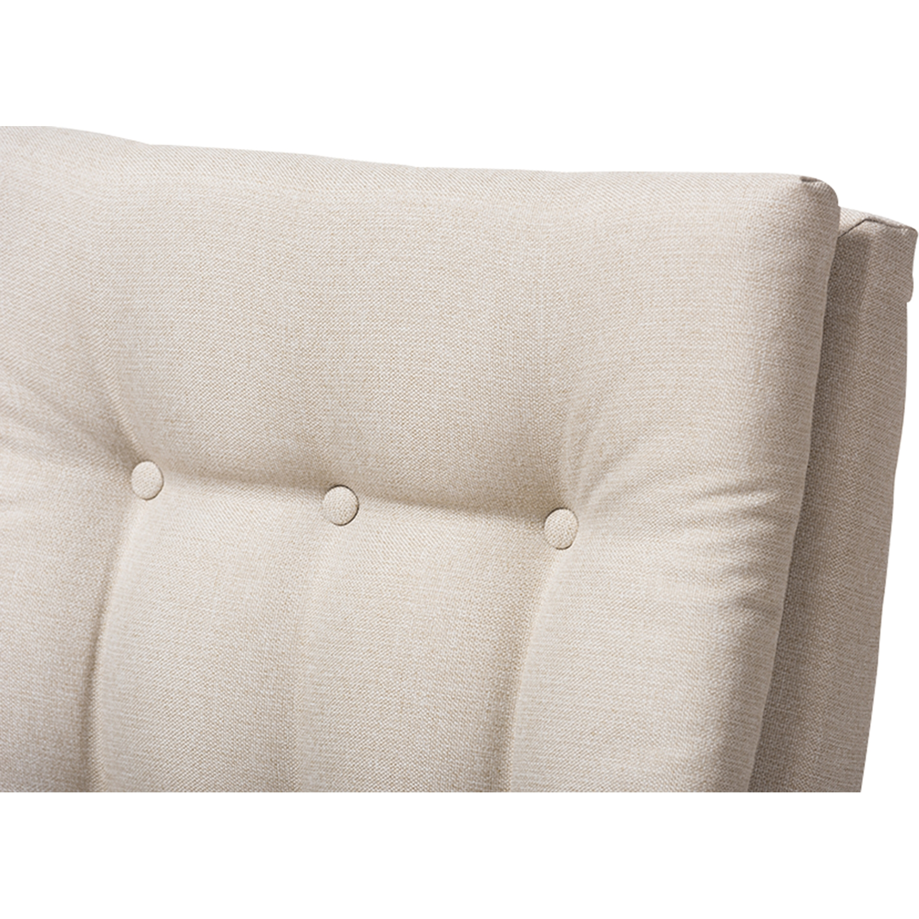 Tufted High Back Chair Roxy Upholstered High Back Chair Button Tufted Light Beige